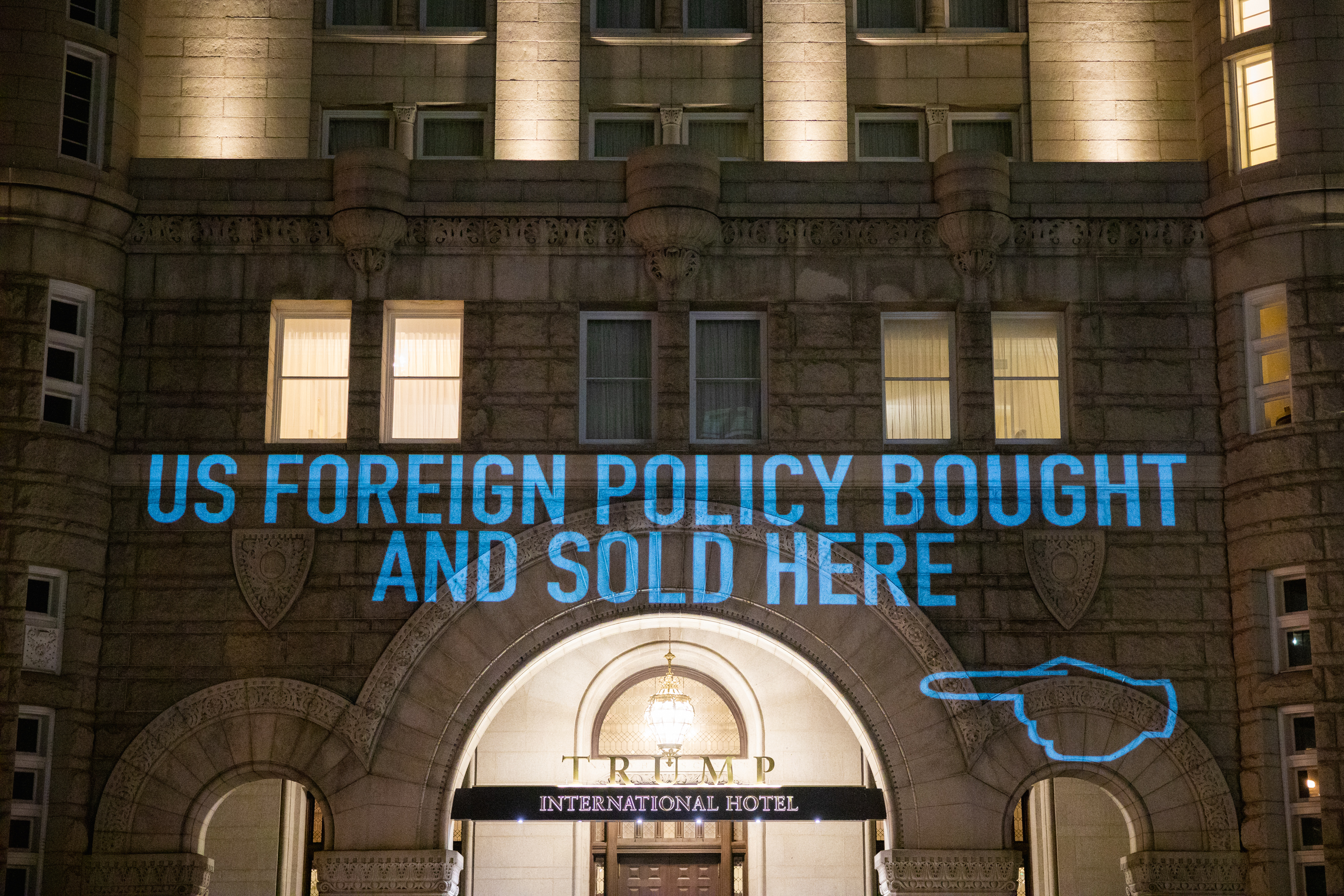 Trump Hotel Projection