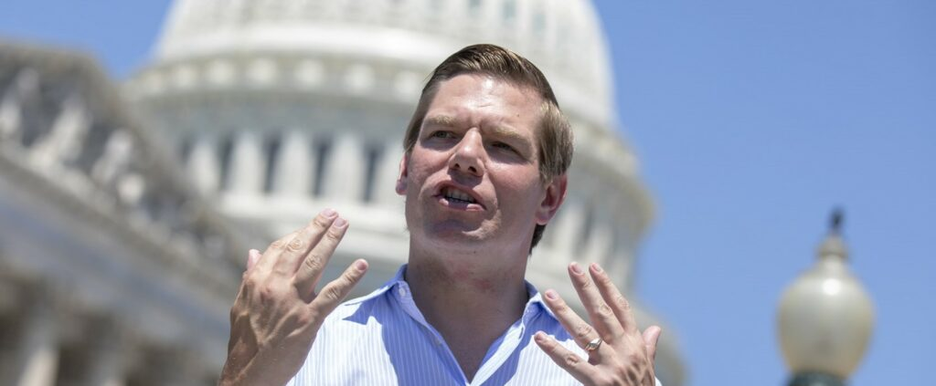 Eric Swalwell (Credit: Alex Edelman/Getty Images)